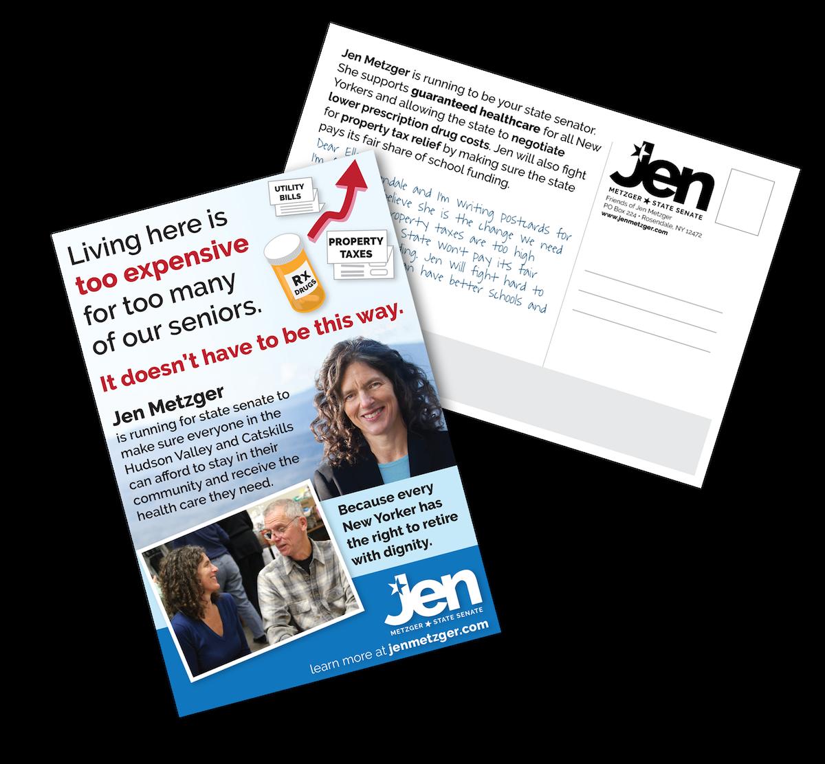 Jen Metzger Postcard Campaign